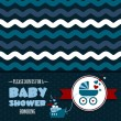 Vecteur: Baby shower invitation
