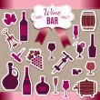 Wine icons — Stock Vector #40710817