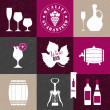 Vector de stock : Wine collage