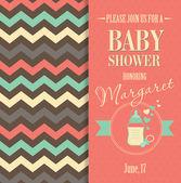 Baby shower invitation — Stock Vector