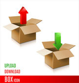 Cardboard box — Stock Vector