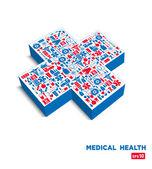Cruz médica. — Vector de stock