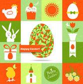 Happy Velikonoční přání. — Stock vektor