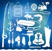 Fishing icon set — Stock Vector