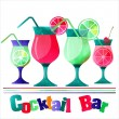 Cocktail illustration — Stock Photo