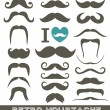 Moustaches set. Design elements. — Stock Vector