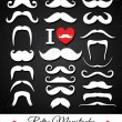 Moustaches set. — Stock Vector