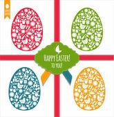Easter eggs set — Stock Vector