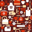 Kitchen seamless pattern — Vector de stock