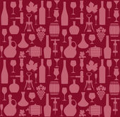 Wine pattern — Stock Vector