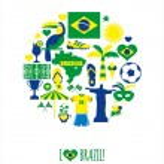 Brazil icon set — Stock Vector