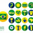Brazil icon set — Stock Vector #45363439