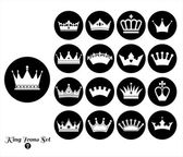 Crowns vintage set — Stock Vector