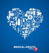 Medical set — Stock Vector