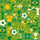 бесшовный узор из бразилии — Cтоковый вектор