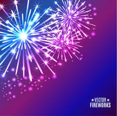 Vector Illustration of Fireworks — Stock Vector