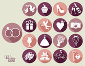 Wedding set icon — Stock Vector