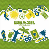 Brazil background. — Stock Vector