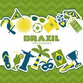 Brazil background. — Stock Vector