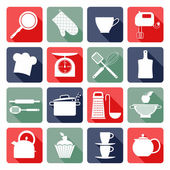 Kitchen flat icons. — Stock Vector