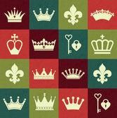 Seamlees crowns pattern — Stock Vector