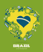 Brazil background — Stock Vector