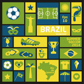 Vector Illustration of Brazil — Stock Vector