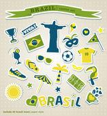 Brasilien bakgrund — Stockvektor