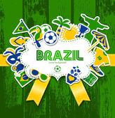 Brasilien banner — Stockvektor