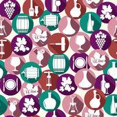 Wine icons. — Stock Vector