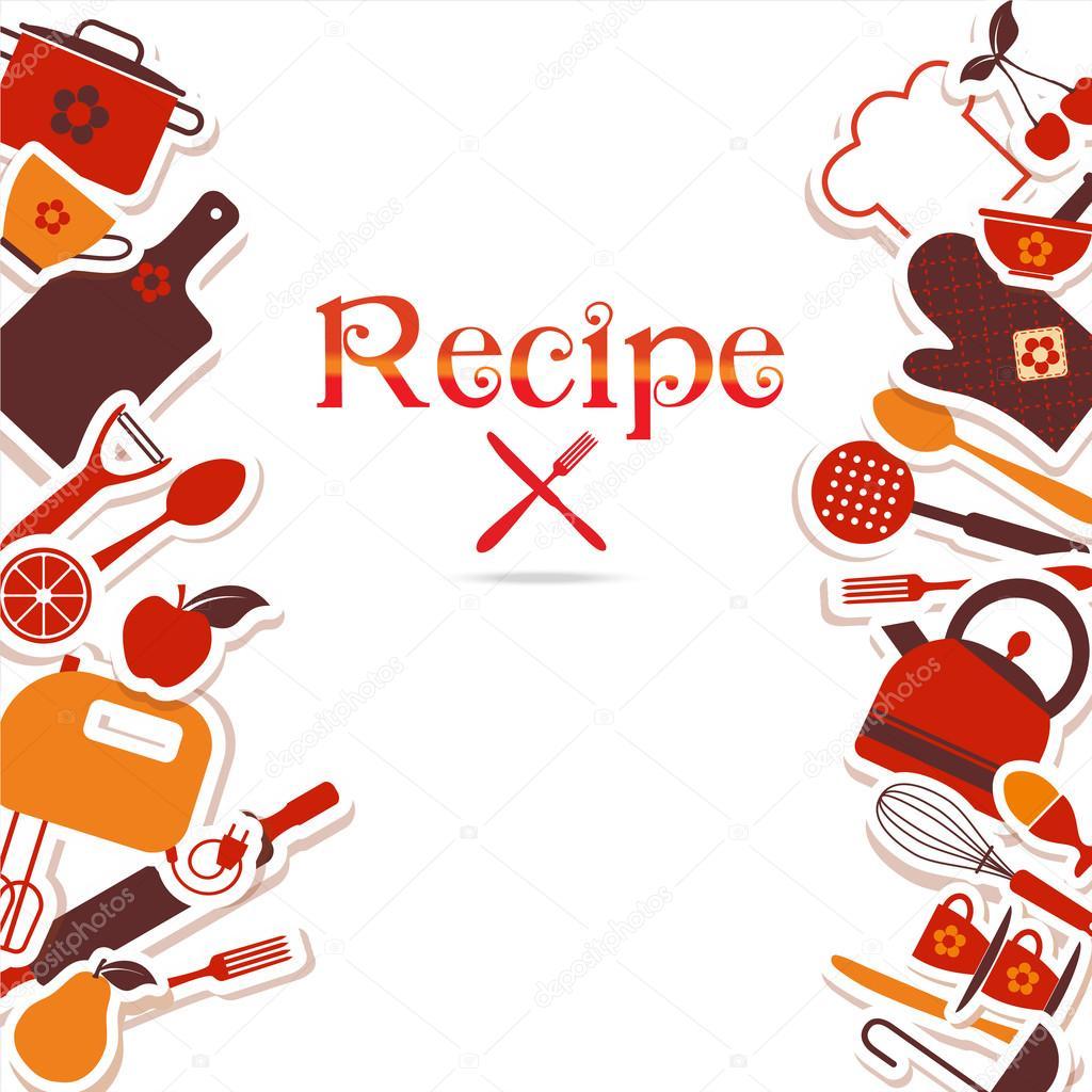 Fondo Vintage Cocina Vector De Stock 47102013
