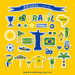 Brazil icons set — Stock Vector