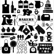 Bakery icons set. — Stock Vector #47365207