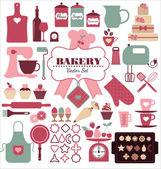 Bakery icons set. — Stock Vector
