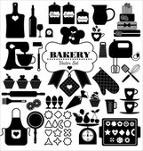 Bakery icons set. — Stock Vector