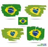 Set of flags from Brazil — Stock Vector