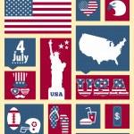 elementos de diseño americano — Vector de stock  #48647911