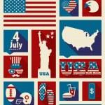 elementos de diseño americano — Vector de stock  #48647915