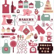 Bakery icons — Stock Vector #50065877