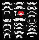 Moustaches set — Stock Vector
