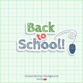 Back to school — Stock Vector