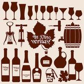 Víno sada. — Stock vektor