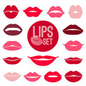 Lips set. design element. — Vettoriale Stock