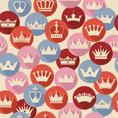 Seamless abctract crowns pattern — Vector de stock