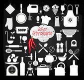 Jeu d'icônes de cuisine. — Vecteur