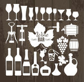 Wine set icons. — Stockvektor