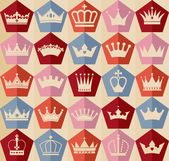 Seamless abctract crowns pattern — Stock Vector