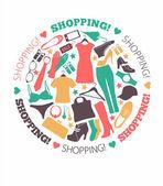 Shopping illustration — Stockvector