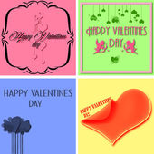 Valentines day background 4 in one — Stock Photo