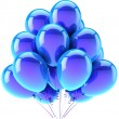 Balloons party happy birthday blue cyan decoration. Joy fun happiness celebration concept — Stock Photo